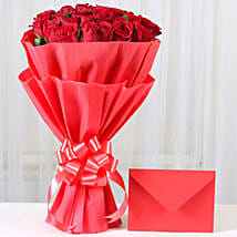 Red Roses N Greeting card: Flower N Greeting Card