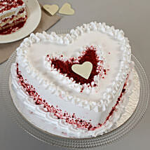 Red Velvet Cream Heart Cake: Red Velvet Cakes Thane