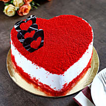 Red Velvet Heart Cake: Send Heart Shaped Cakes to Indore