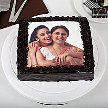 Rich Chocolate Mothers Day Photo Cake: Mothers Day Cakes