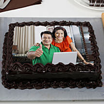 Rich Chocolate Truffle Photo Cake: Photo Cakes to Pune