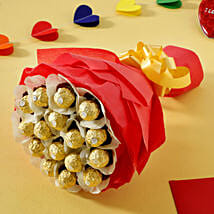 Rocher Choco Bouquet: Send Designer Rakhi