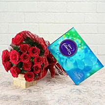 Roses and Celebration: Send Flowers & Chocolates for Him