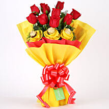 Roses N Chocolates Delight: Chocolate Bouquet for Birthday