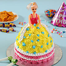 Rosy Barbie Cake: Gifts for Kids
