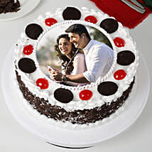Round Black Forest Photo Cake: Photo Cakes for Birthday