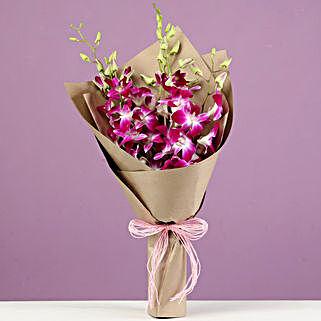 Royal Purple Orchids Bunch: Orchids