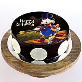 Scrooge McDuck Chocolate Photo Cake: Cartoon Cakes