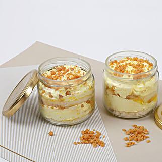 Set of 2 Crunchy Butterscotch Jar Cake: Butter Scotch Cakes