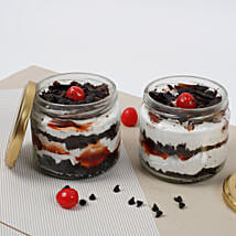 Set of 2 Sizzling Black Forest Jar Cake: Cake Delivery in Kanchipuram