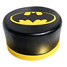 Shining Batman Cream Cake: Gifts To Hussainpura - Ludhiana