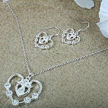 Silver Plated Jewellery Set: Send Jewellery Gifts
