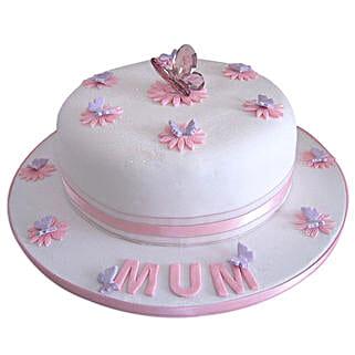 Simple and Sweet Love Mom Cake: