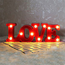 Small 3D Hanging Romantic Love Letters Night Light: Unusual Gifts