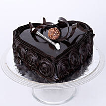 Special Floral Chocolate Cake: Send Heart Shaped Cakes to Indore