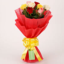 Special Mixed Roses Bouquet: Valentine Roses for Girlfriend