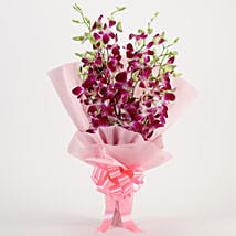 Splendid Purple Orchids Bouquet: Republic Day Flowers Delivery