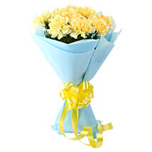 Sundripped Yellow Carnations Bouquet: Carnations