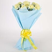 Sundripped Yellow Carnations Bouquet: Valentine Flowers Gurgaon