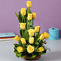 Sunshine Yellow Roses Bouquet: Send Roses