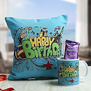 Sweet Birthday Hamper: Send Birthday Cushions