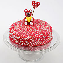Teddy Hearts Cake: Valentines Day Designer Cakes