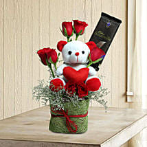 Teddy With Roses: Mothers Day Flowers and Teddy