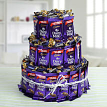 Dairy Milk Chocolate & Eclairs Arrangement: Midnight Delivery Gifts