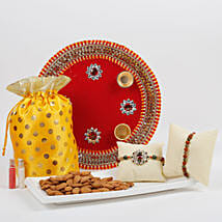 Traditional Rakhi Thali Combo: Rakhi Pooja Thali Chennai