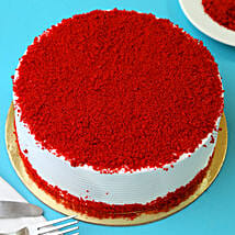 Red Velvet Fresh Cream Cake: Gifts Delivery In Chandmari