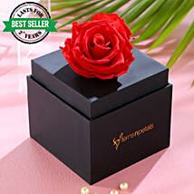 Forever Red Rose With Black Box: New Arrival Flowers