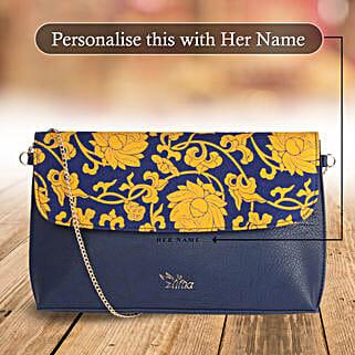 Floral Blue Sling Bag: Handbags and Wallets