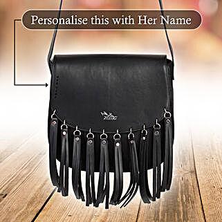 Voguish Black Sling Bag: Handbags and Wallets