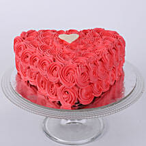 Valentine Heart Shaped Cake: Designer cakes for anniversary