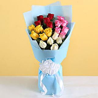 Vibrant Roses Bouquet: Congratulations Flower Bouquet
