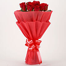 Vivid - Red Roses Bouquet: Valentine Flowers to Gandhinagar