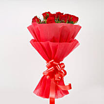 Vivid - Red Roses Bouquet: Flower Delivery in Fatehgarh Sahib