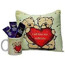 Warm and Cozy Love Hamper: Buy Chocolates for Her