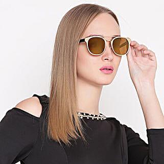 Wayfarer Unisex Sunglasses Gold: Sunglasses