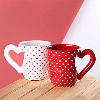 White Heart Handle 3D Mug: Unusual Gifts