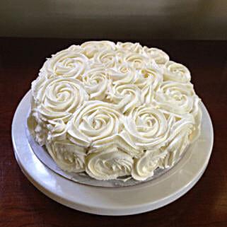 White Rose Cake: Wedding Cakes