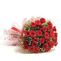 Beautiful 30 Red Roses Bouquet: Send Flowers to Jhabua