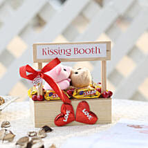 Wooden Kissing Booth With Chocolates: Gifts for New Arrival