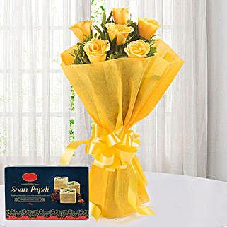 Yellow Roses N Sweets: Flower N Sweets