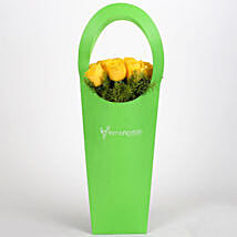 Yellow Roses With Green Sleeve: Flowers for Fathers Day