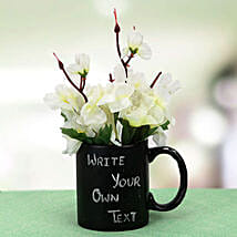 Your Words Mug and Plant: Artificial Flowers Hyderabad