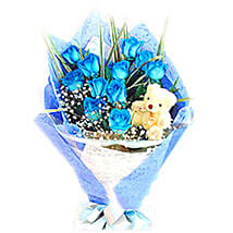 Blue Heavenly Surprise: Send Birthday Flowers To Malaysia