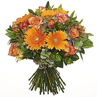 Bright Citrus Bouquet: Send Flower Bouquets to New Zealand