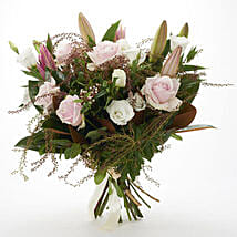 Fresh Roses N Lilies Bouquet: Flowers to Christchurch