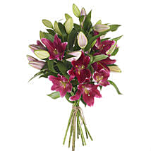 Gleaming Pink Lilies: Send Flowers to New Zealand